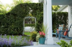 The gardens of the Shelter Island Inn