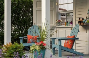 Outdoor seating at the inn