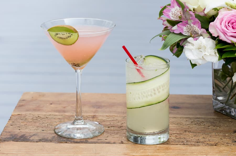 Specialty drinks from Shelter Island House